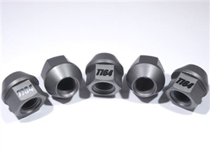 "1/2""-20 Ultra-lite Gray Anodized Lug Nut, 5 Pack"