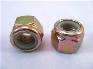"3/8""-24 NyLock Nut, Steel"