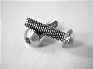 "#10-32 x 3/4"" Button Head Socket Screw"