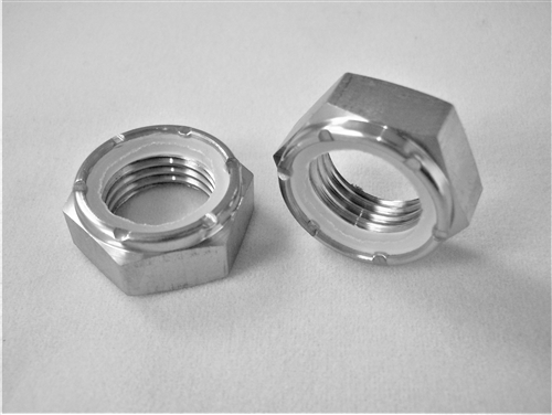 "1/2""-20 Fine Thread, Ti Hex Nylock Nut, 1/2 Height, Reduced Wrench (11/16"")"