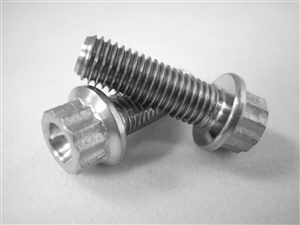"1/4-28 X 3/4"", 12 Point Ultra-Light Hex-Flange Bolt"