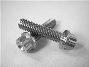 "1/4-28 X 1"", 12 Point Ultra-Light Hex-Flange Bolt"