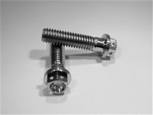 "3/8""-16 x 1-1/2"" Ultra-Light Hex-Flange Bolt, Drilled for Safety Wire"