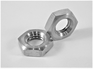 M8-1.25 Pitch Hex Nut, Half Height