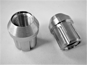 M12-1.25 Lug Nut, 6-Pt Spline, 60 Tapered Seat
