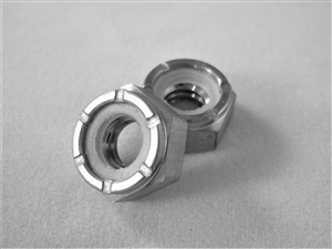 "1/4""-20 Hex Nylon Insert Lock Nut"