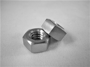"1/4""-20 UNC Coarse Thread Ti Hex Nut"