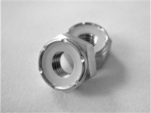 "1/4""-28 Hex Nylon Insert Lock Nut"