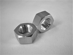 "5/16""-24 UNF Fine Thread Ti Hex Nut"