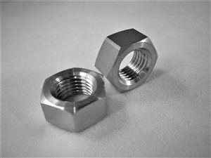 "3/8""-24 UNF Fine Thread Ti Hex Nut"