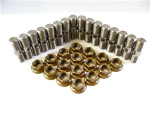 Header Stud Kit - Unbroached Big Block (16 Studs)