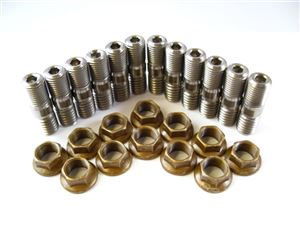 Header Stud Kit - Broached Small Block (12 Studs)