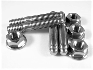 "Carb Stud Kit, 5/16"" x 1.7"" Studs with Hex Flange Nuts"
