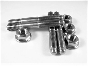 "Carb Stud Kit, 5/16"" x 2.25"" Studs with Hex Flange Nuts"