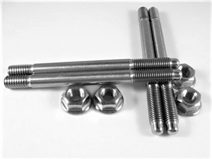 "Carb Stud Kit, 5/16"" x 3.7"" Studs with Hex Flange Nuts"