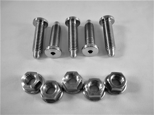 Wheel Stud Kit w/Hex Flange Nuts (5 - Low Profile Button Head Studs)