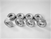 "1/2""-20 Hex Nylon Insert Lock Nut, Half Height, 11/16"" Wrenching  (8 Pack)"