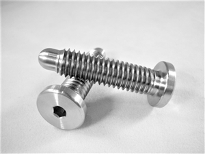 "3/8""-16 Low Profile Button Head Wheel Stud w/ Bullet Nose"