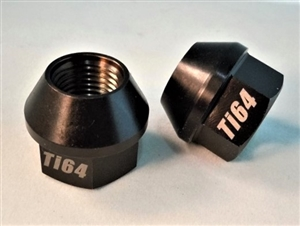 "1/2""-20 Lug Nut, 3/4"" Wrench, 60 Deg. Tapered Seat, Black"