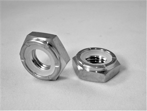 M10-1.25 Hex Nylon Insert Lock Nut, 1/2 Height