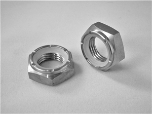 "1/2""-20 Hex Nylon Insert Lock Nut , 1/2 Height"