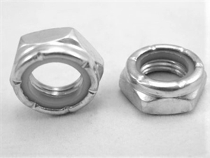 "1/2""-20 Steel Nylon Insert Lock Nut, Half Height"