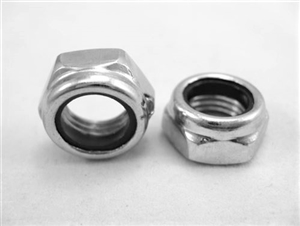 "7/16""-20 Steel Nylon Insert Lock Nut, Half Height"