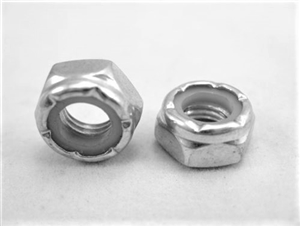 "5/16""-24 Steel Nylon Insert Lock Nut, Half Height"