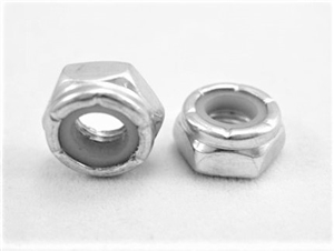 "1/4""-28 Steel Nylon Insert Lock Nut, Half Height"