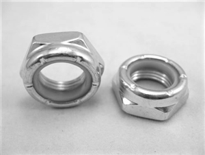 "5/8""-18 Steel Nylon Insert Lock Nut, Half Height"