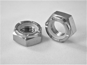 "3/8""-24 Hex Nylon Insert Lock Nut, 1/2 Height"