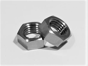 "7/16""-20 Ti Hex Jam Nut, Reduced Wrench"