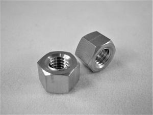 #10-32 UNF Fine Thread Ti Hex Nut, Reduced Wrenching