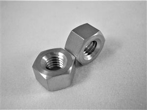 #12-28 UNF Fine Thread Ti Hex Nut