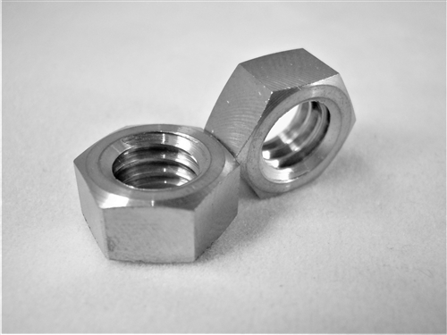 "5/16""-18 UNC Coarse Thread Ti Hex Nut, Reduced Wrench"