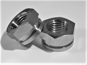 "1/2""-20 Hex Nut With Snap Ring Groove"