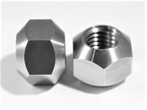 "5/8""-11 Lug Nut, 45 Degree Tapered Seat, Double Chamfer"