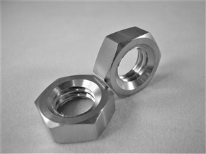 "3/8""-16 UNC Course Thread Ti Hex Jam Nut"