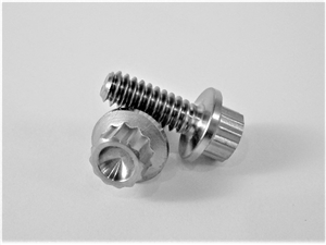 "#10-24 x 1/2"" 12 Pt. Ultra-Light Flange Bolt"