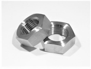 "5/8""-18 UNF Ti Hex Jam Nut, Left Hand Thread"