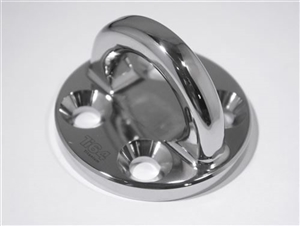 76mm Billet Ti64 Pad Eye, mirror polish finish