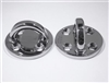 57mm Billet Ti64 Pad Eye, mirror polish finish