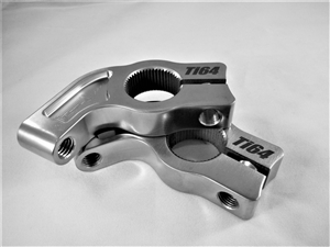 "Polished Billet Titanium Midget Torsion Stop, 1.75"" offset, 1"" spline"