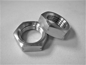 M16-1.5 Ti Hex Jam Nut, Left Hand Thread