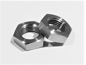 "1/2""-20 UNF Ti Hex Jam Nut, Left Hand Thread"