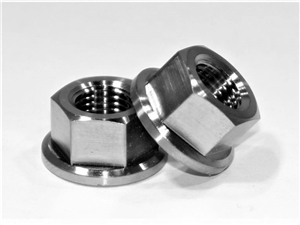 "3/8""-24 Fine Thread Hex Flange Nut"