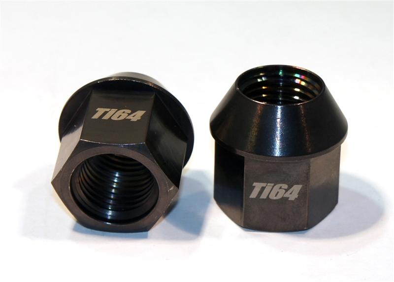 M14 1 5 Lug Nut Black Anodized