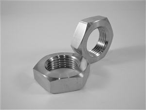 "3/4""-16 UNF Fine Thread Ti Hex Nut, Half Height"
