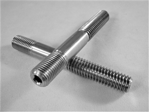 "Broached Stud, 3/8""-16-24 x 2.875"" long"